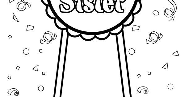 Big Sister Coloring Page Big Sister Pinterest Babies