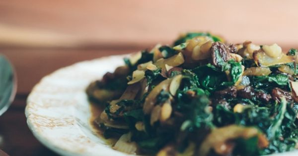 Sauteed swiss chard, Onions and Almonds on Pinterest