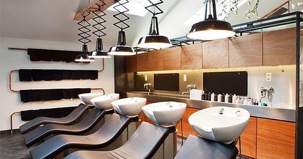 Mogeen hair salon, Amsterdam store design towel rack