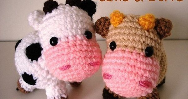 Etsy Amigurumi Patrones : Amigurumi Pattern Little cows PDF by Janagurumi on Etsy, ? ...
