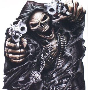 Grimco reaper gun attack skull decal sticker | Superb ...