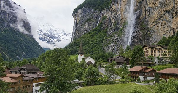 Lauterbrunnen Valley. I need a getaway to this place!!