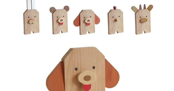 wooden animal -- changeable face