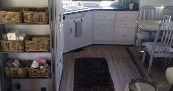 Cabinets painted, countertop replaced & vinyl flooring ...