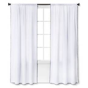 Mini Fringe Curtain Panel Nate Berkus Target Panel Curtains