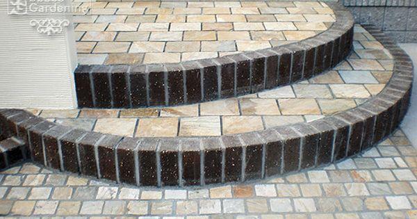 階段 レンガ 小端立て ハウスデザイン レンガ 玄関ポーチ