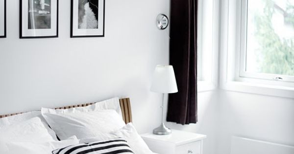 Black and White Bedroom Completely calm and serene. I love the addition