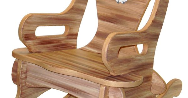 Brown Puzzle Rocker Rocking Chair Solid Wood For Kid