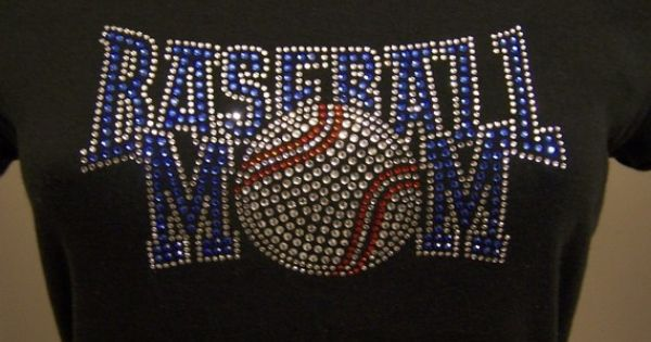 Baseball Mom Blue Rhinestone Heat TransferDIY by ebdazzledcom