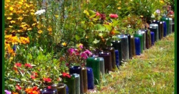 Recycled wine bottles the great outdoors decoracion for Jardin winery