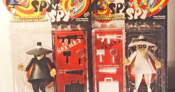 Kids Toys Action Figure: Spy Vs Spy Mad Magazine 1998 Black & White DC Direct
