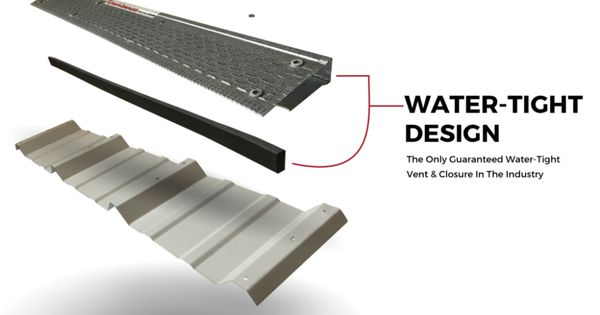 Ez Vent N Closure Two In One Vent Closure For Metal Roofing In 2020 Metal Roof Metal Roof Vents Roofing