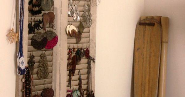 Utiliser un volet en bois comme porte bijoux - Pate a bois comment l utiliser ...