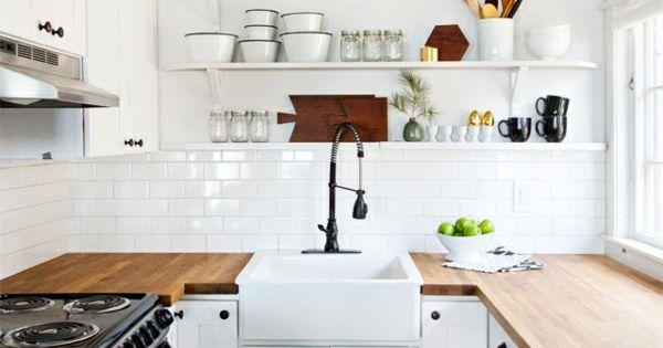 weiße-kleine-küche-einrichten-modern-und-interessant Küche - einrichtung kleine küche