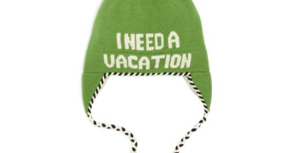 Kate Spade I Need a Vacation hat. My boyfriend needs this hat!