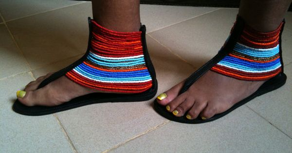 Masai Mix Sandals Made In Tanzania By Craftsbygertrude On