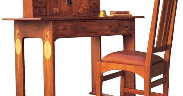 Stickley Furniture Harvey Ellis Desk Chair With Inlay Homeoffice The Mission Home