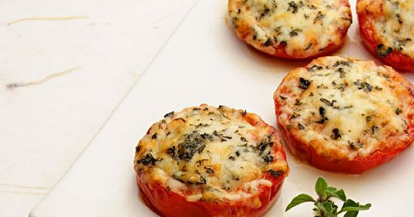 This cheesy, baked Parmesan tomatoes recipe is great for fresh tomatoes. This