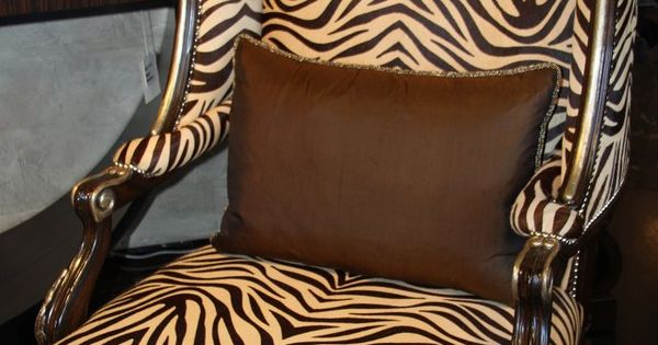 Wing Back Chair Marge Carson Zebra Print Quot Done Right