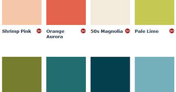Mid Century Paint Colors From England Via Mad For Mid
