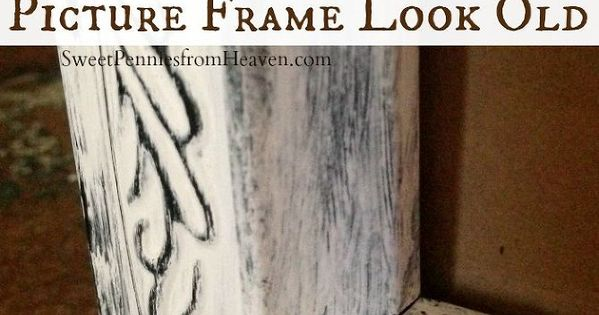 diy distressed frame how to make a new picture frame