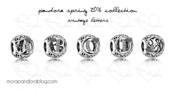 Pandora spring 2016 vintage alphabet letters preview for Pandora vintage letters