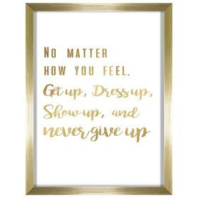 Picture Of Never Give Up Gold Frame 12x16 Gold Frame Frame Black Gold Bedroom