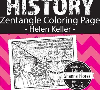 Here S A Fun Coloring Page That Can Go Along With A Unit About Helen Keller It Includes Drawings Of Helen And Helen Keller Coloring Pages Cool Coloring Pages