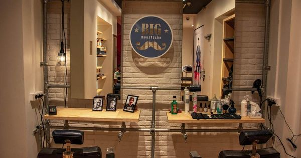 Big Moustache Opens A New Barbershop On The Champs Elysees Barbershopideas Parisian Barbershop Big Moustache Has Just Opened A Third Spot In Paris On The In 2020