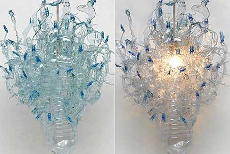 More Recycled Chandeliers Dale Chihuly Plastic Bottle