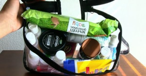 how to pack toiletries for flying