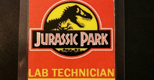 Jurrasic Park Lab Technician I.D. Badge by FanMadeBadges on Etsy