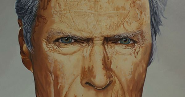 clint eastwood par christophe daras artiste peintre reims france sur artquid pinterest. Black Bedroom Furniture Sets. Home Design Ideas
