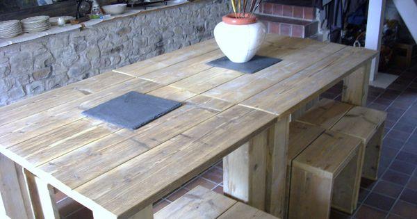 Table de jardin en palettes id es r cup 39 colo pinterest jardin en palette table de - Creation table de jardin en palette ...