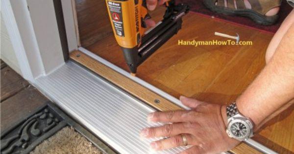 How To Replace An Exterior Door Part 4 Exterior Door Threshold Base Shoe Molding Home Repairs