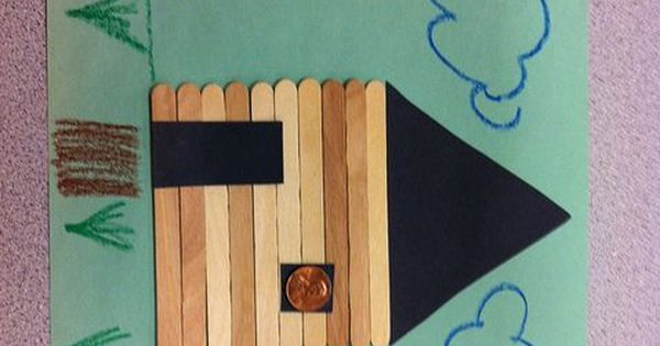 Presidents Day Abraham Lincoln Log Cabin Classroom Craft
