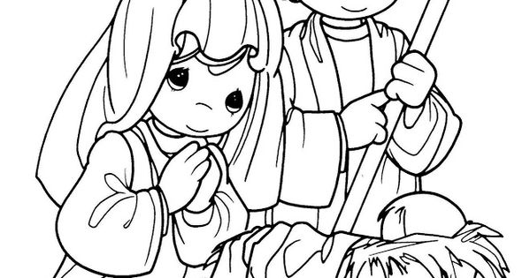 Mary And Joseph Precious Moments Coloring Pages