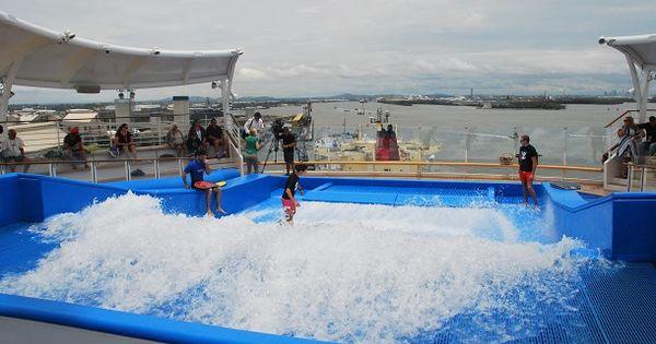 Flowrider Wave Machine On Cruise Ship The Travel Tart Blog Cruise Ship Royal Caribbean Cruise Cruise
