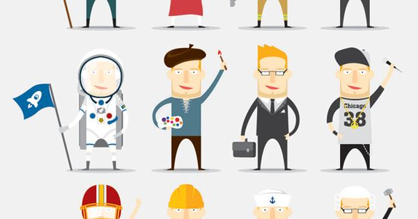 Character Design Careers : Job character by mai trinh via behance