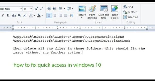 how to fix quick access in windows 10 | problem and solutions | Pinterest | To fix, Window and ...