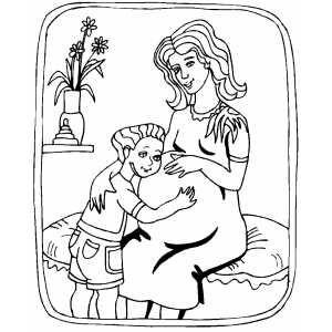 Pregnant Pregnant Mom Princess Coloring Pages Pregnant