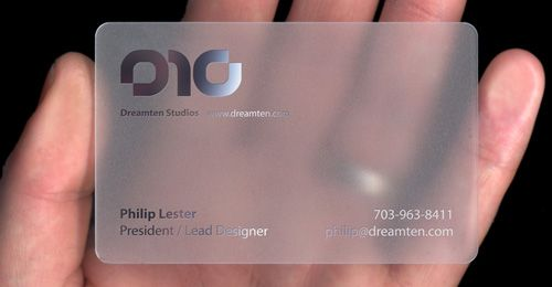 40 Brilliant Business Card Design Examples For Your Inspiration Transparent Business Cards Business Card Design Creative Cool Business Cards