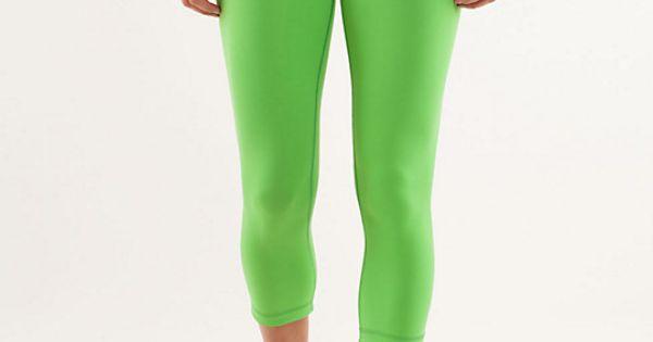 Lime Green Running Pants Lululemon My Style Pinterest