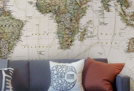 Old Style Map Wall Mural wallpaper worldmap wallpaper vinylimpression
