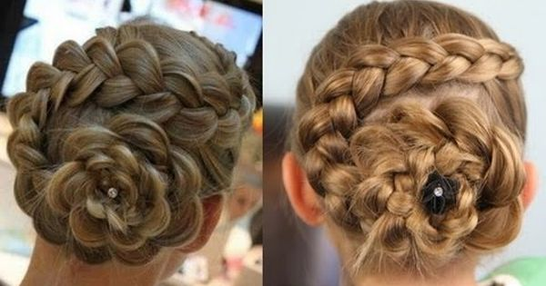 Dutch Flower Braid girl hairstyle Hair Style