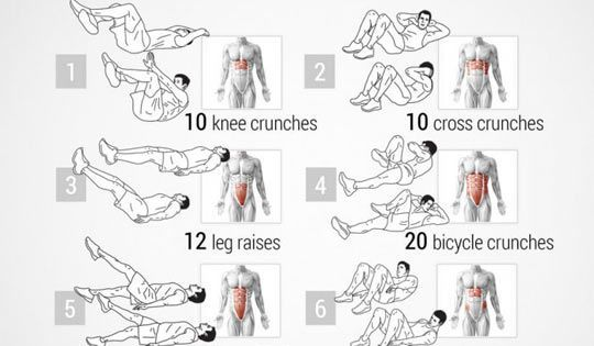 Pink's Ab Workout Routine. I'll mix this into my workout! Core Fitness