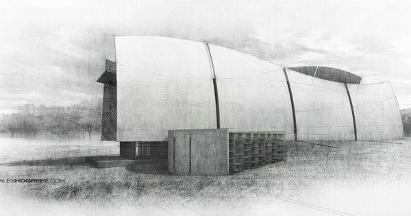 Architecture Sketch Illustration Alex Hogrefe Architectural