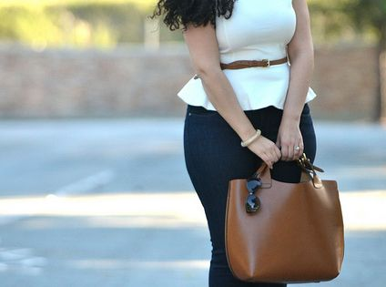 Girl with Curves Workin' the peplum top
