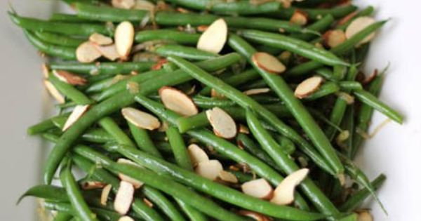 Haricots Verts with Toasted Almonds and Caramelized Shallots | Almonds