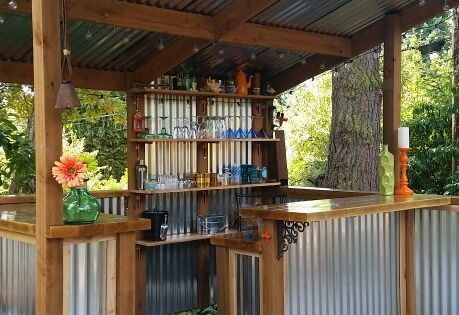 Diy How To Build A Shed Backyard Bar Metal Panels And
